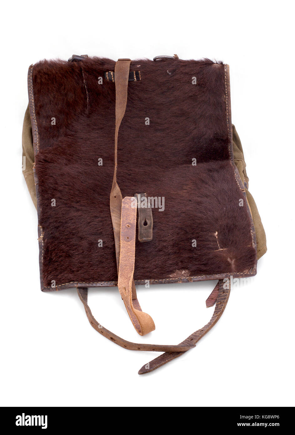 Germany at WW2 German marching soldier haversack (backpack). - Stock Image