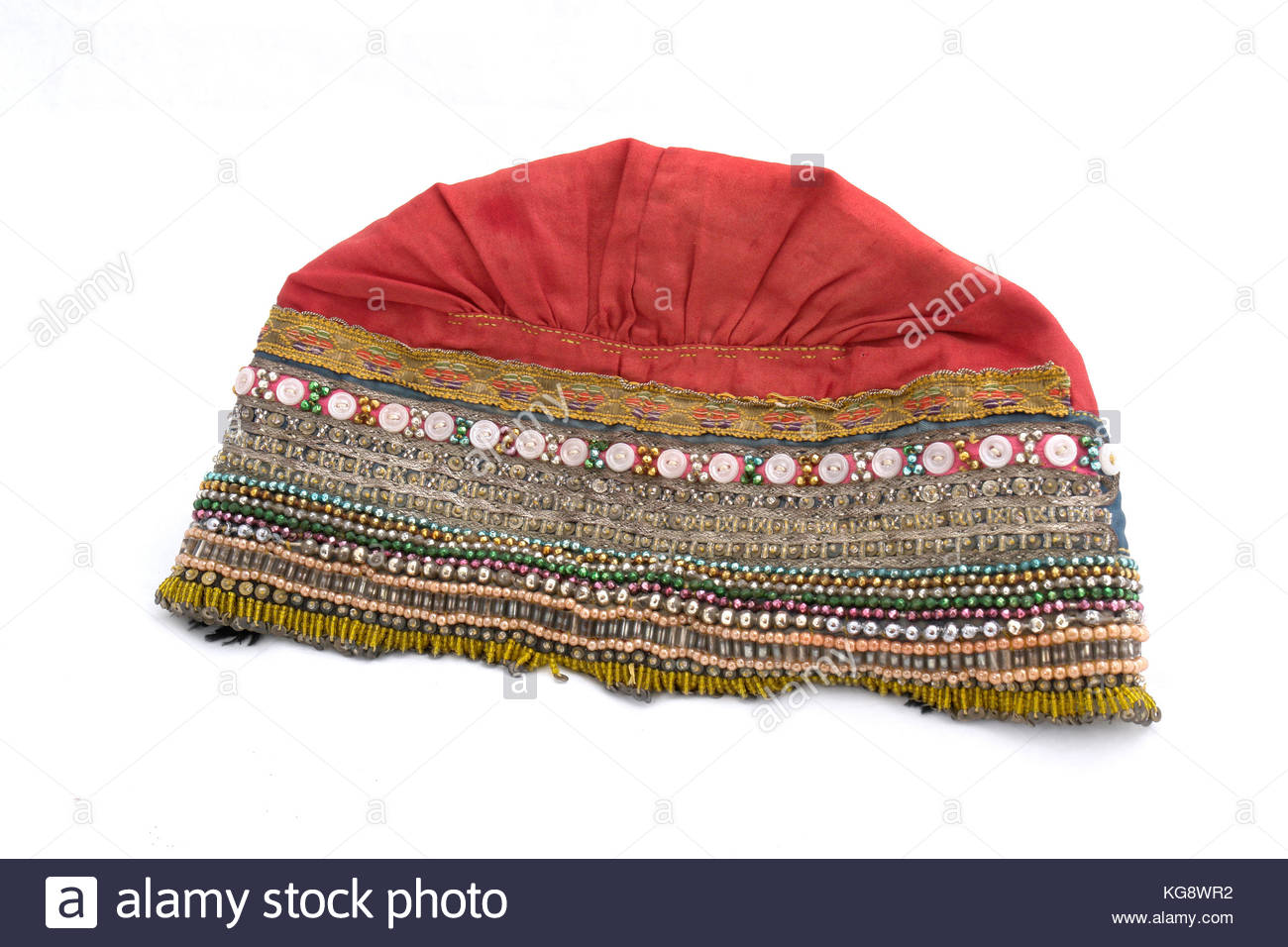 Traditional headgear (headdress) of the 18-19th century from the southern part of Russia. Usually this kind of headgear - Stock Image