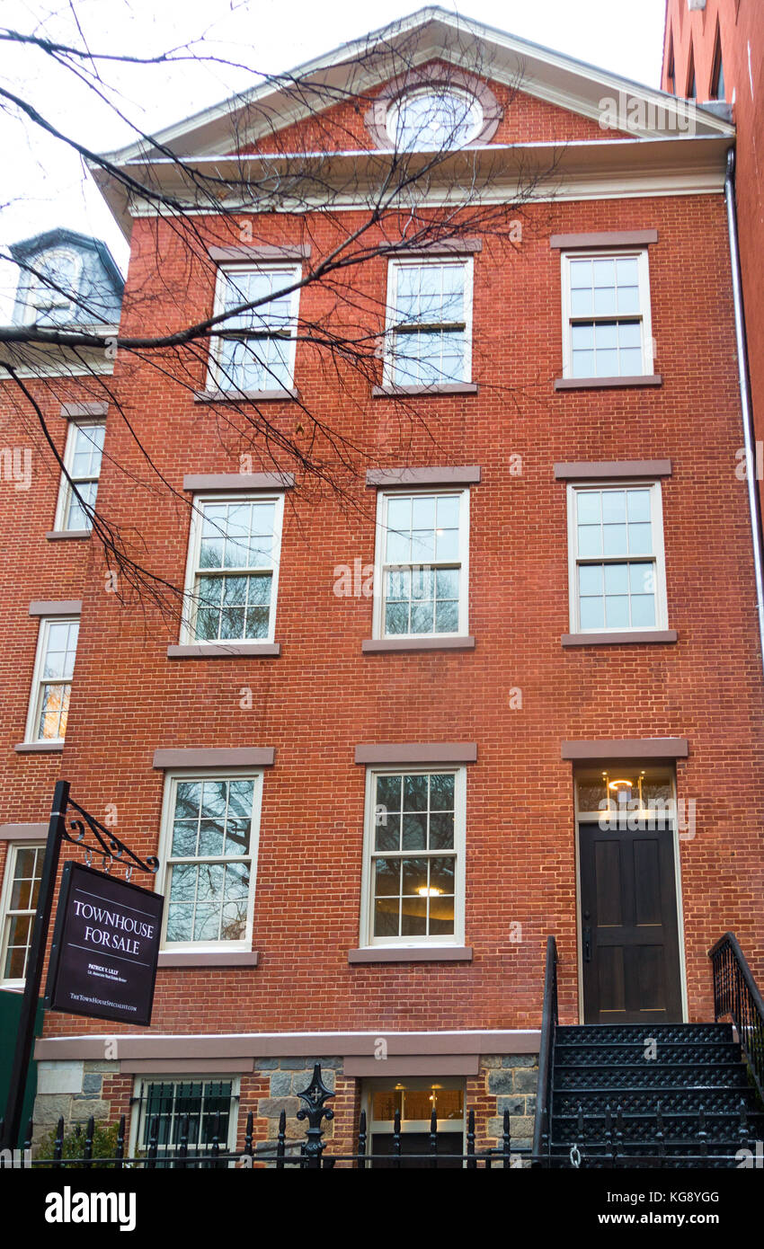 A newly renovated townhouse on Prince Street in Nolita, Lower Manhattan for sale - Stock Image