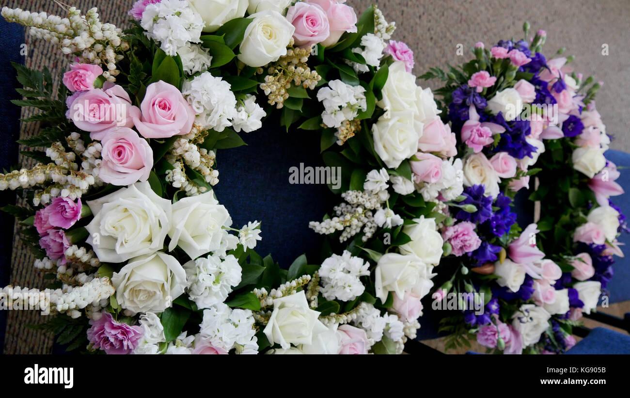 Church Light Flower Arrangement Stock Photos Church Light Flower