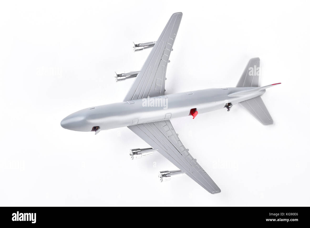 A close up shot of a diecast model plane. - Stock Image