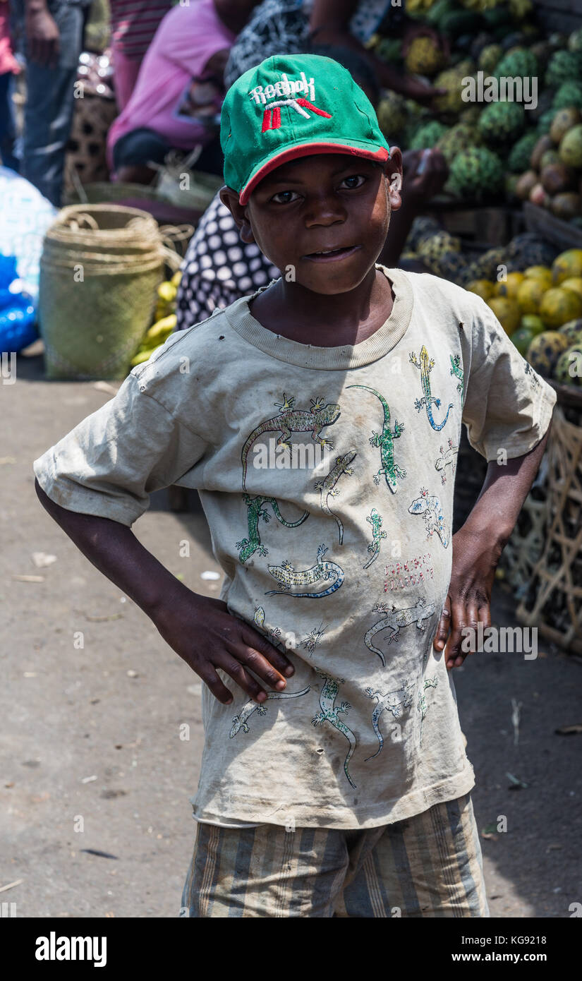 A young Malagasy boy. Madagascar, Africa. - Stock Image
