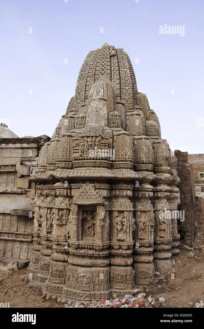 Ruins of the Rudramala or the Rudra Mahalaya Temple, Started in 943 AD by Mularaja and completed in 1140 AD by Jayasimha - Stock Image