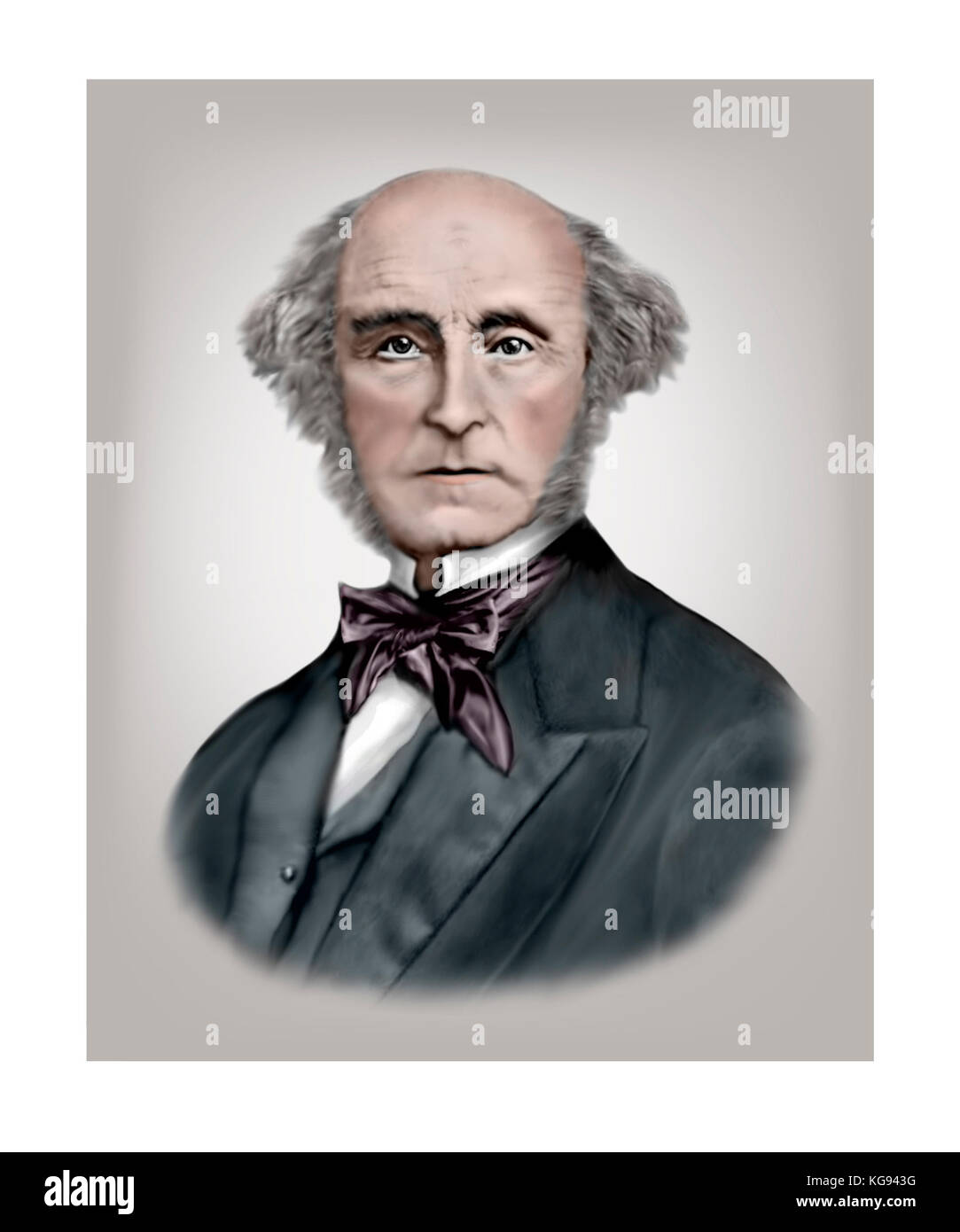 John Stuart Mill, 1806 - 1873, English Philosopher, Political Economist - Stock Image