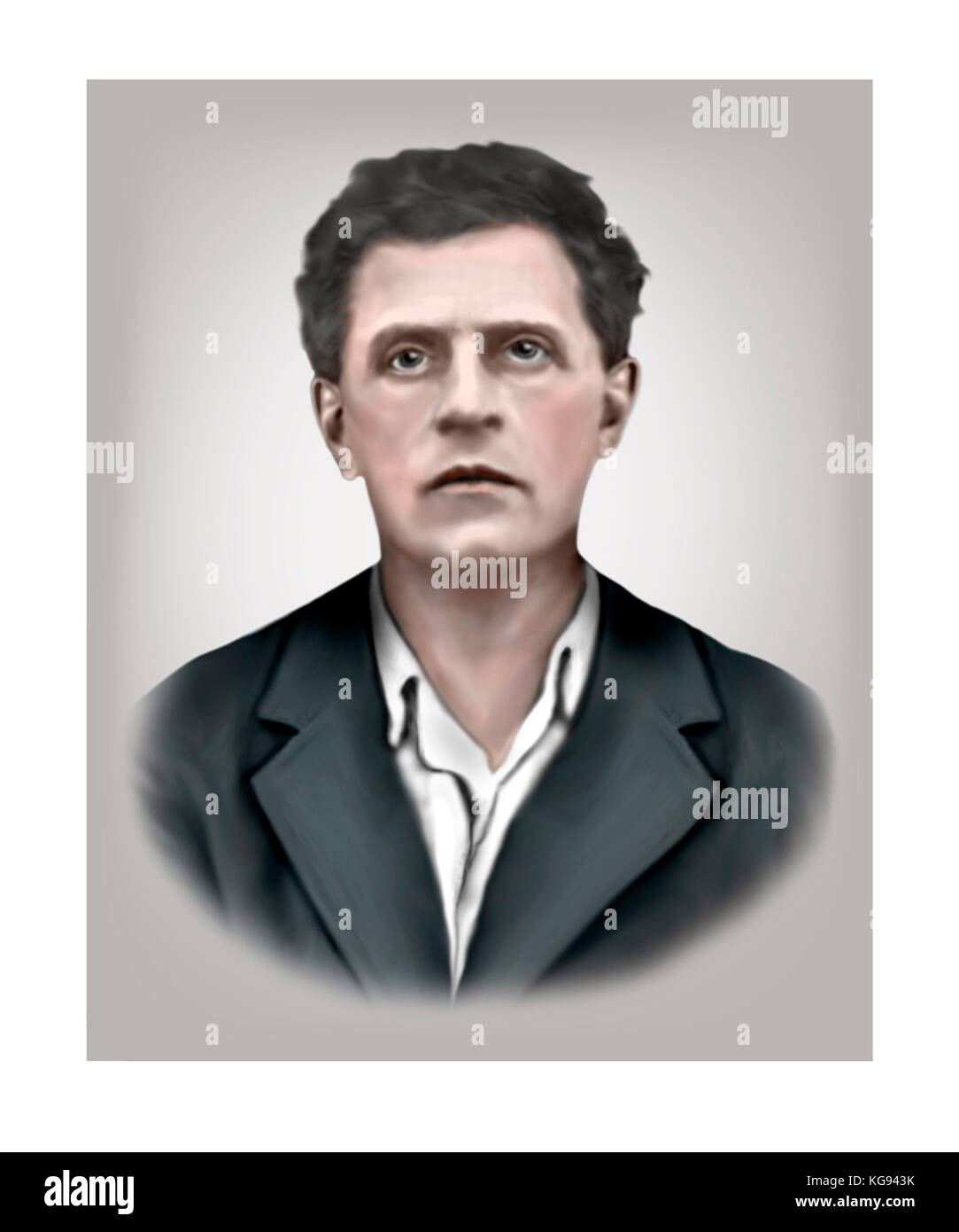 Ludwig Wittgenstein, 1889 - 1951, Austrian British Philosopher - Stock Image