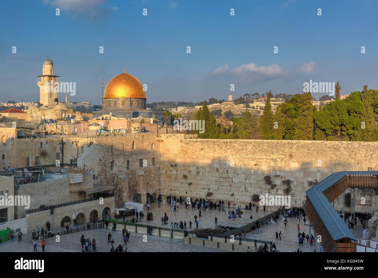 Western Wall in Jerusalem Old City, Israel. Stock Photo