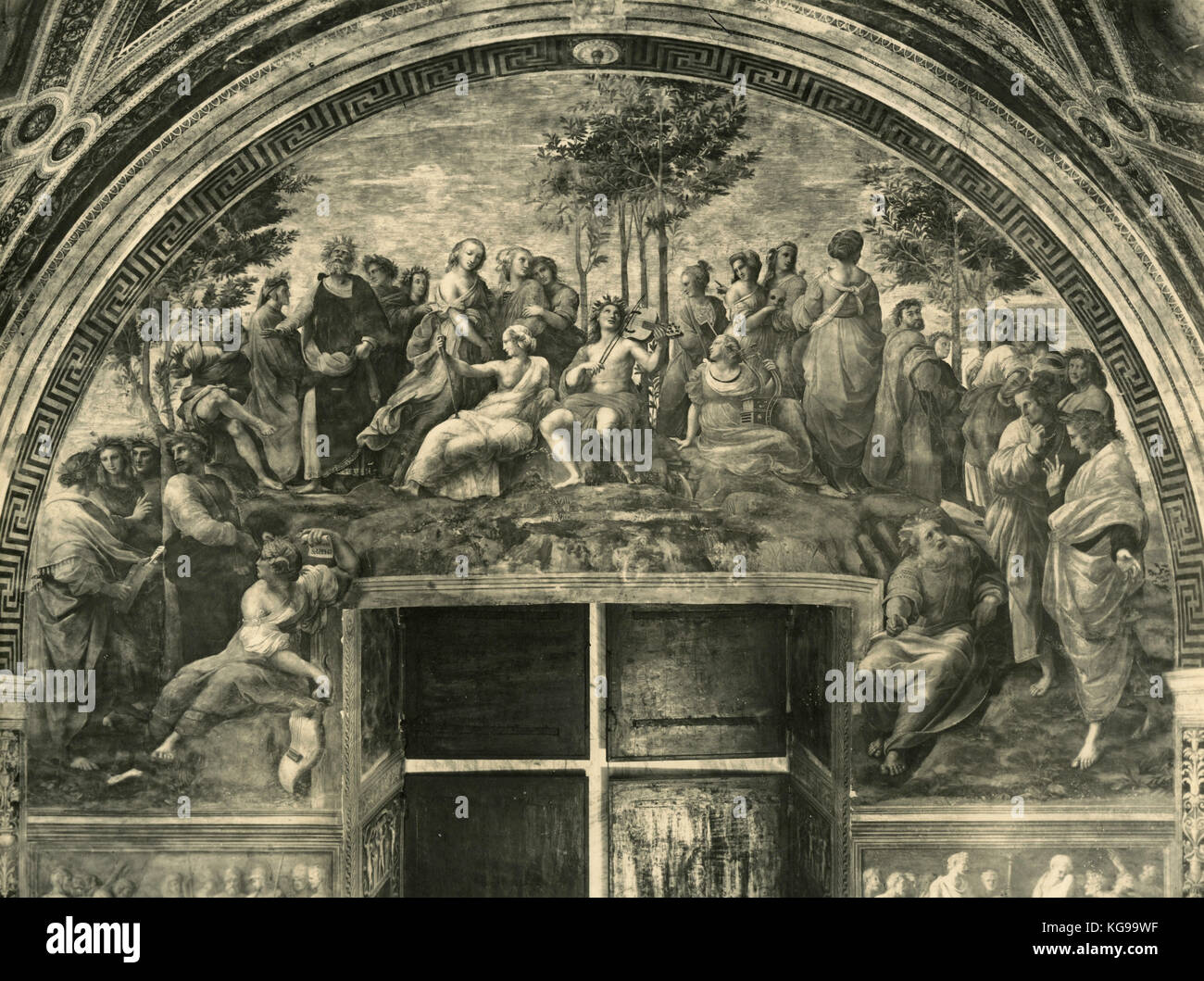 Parnassus, Rapheal's Rooms, Vatican City - Stock Image