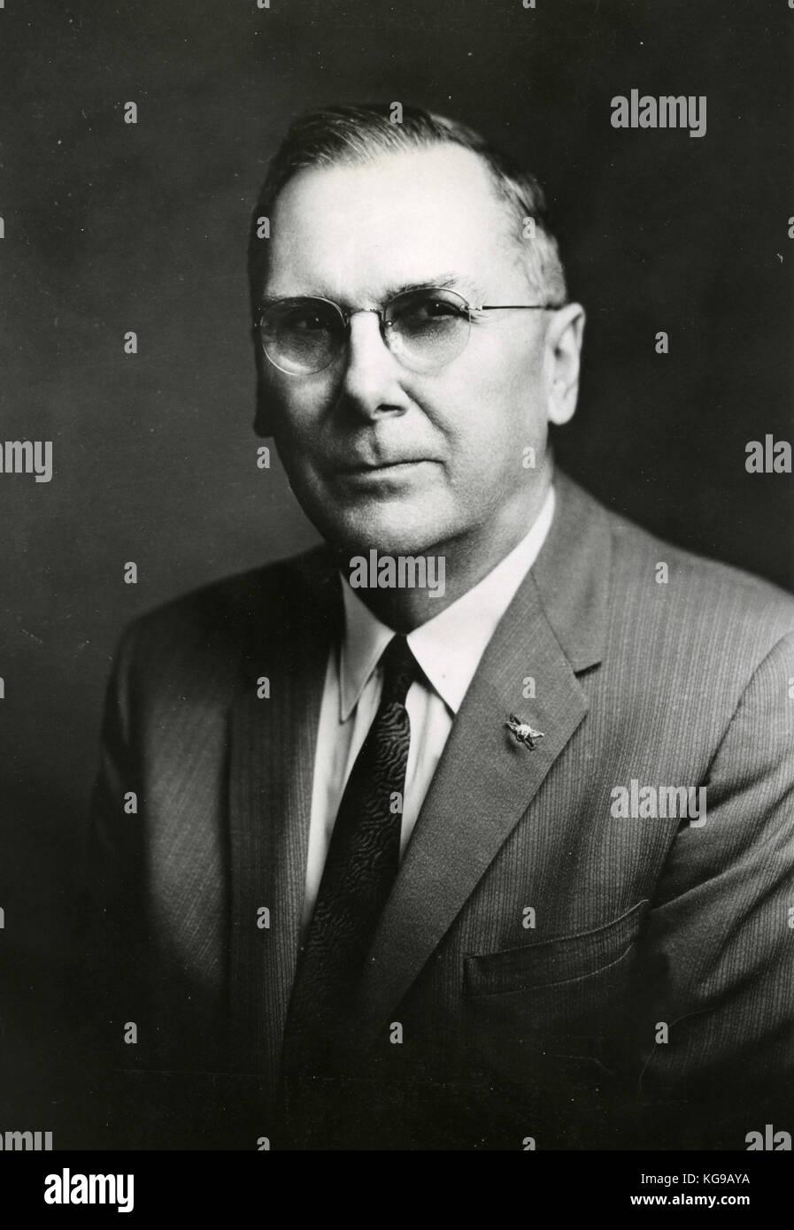 Prof. Hugh Dryden, Deputy Director at NASA - Stock Image