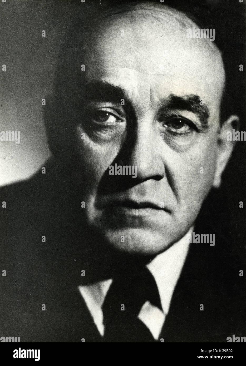 Polish theatre and film director Leon Schiller - Stock Image