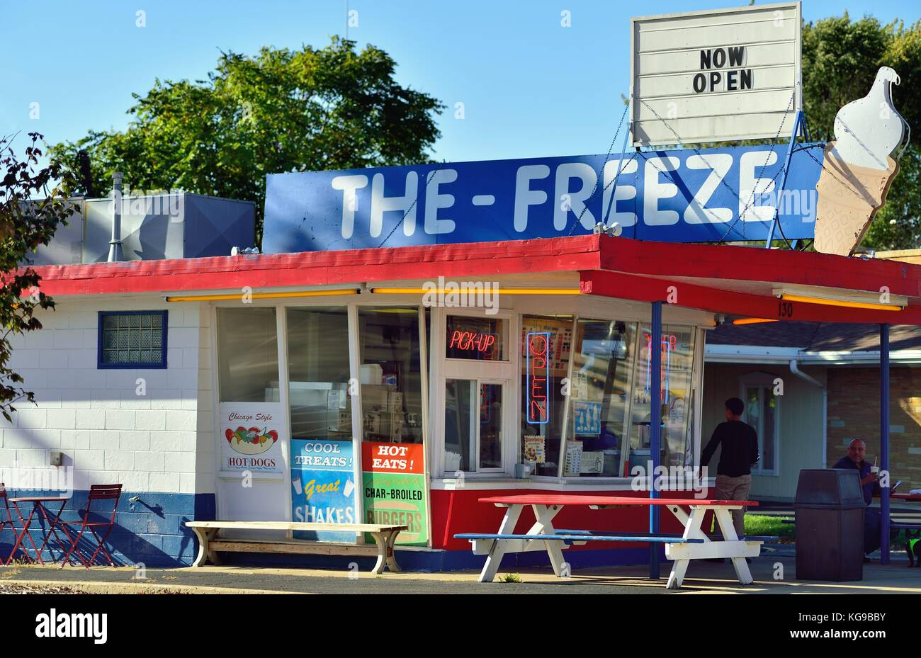 Due to the proliferation of franchise fast food restaurants, the number of soft serve ice cream outlets has dwindled. Stock Photo