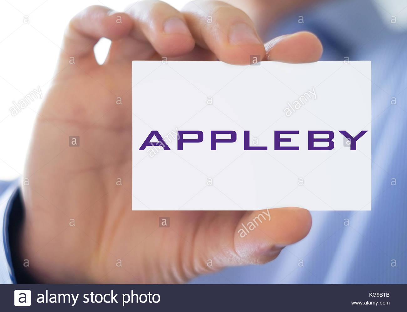 Appleby Paradise Papers icon logo sign - Stock Image