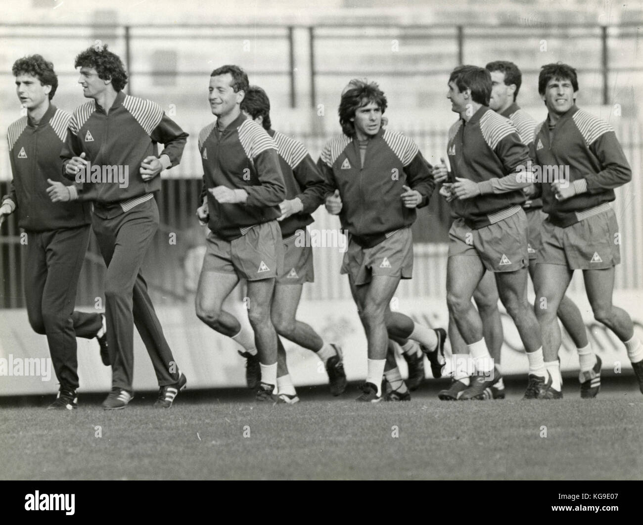 Training of the Italian national football team 1985 - Stock Image