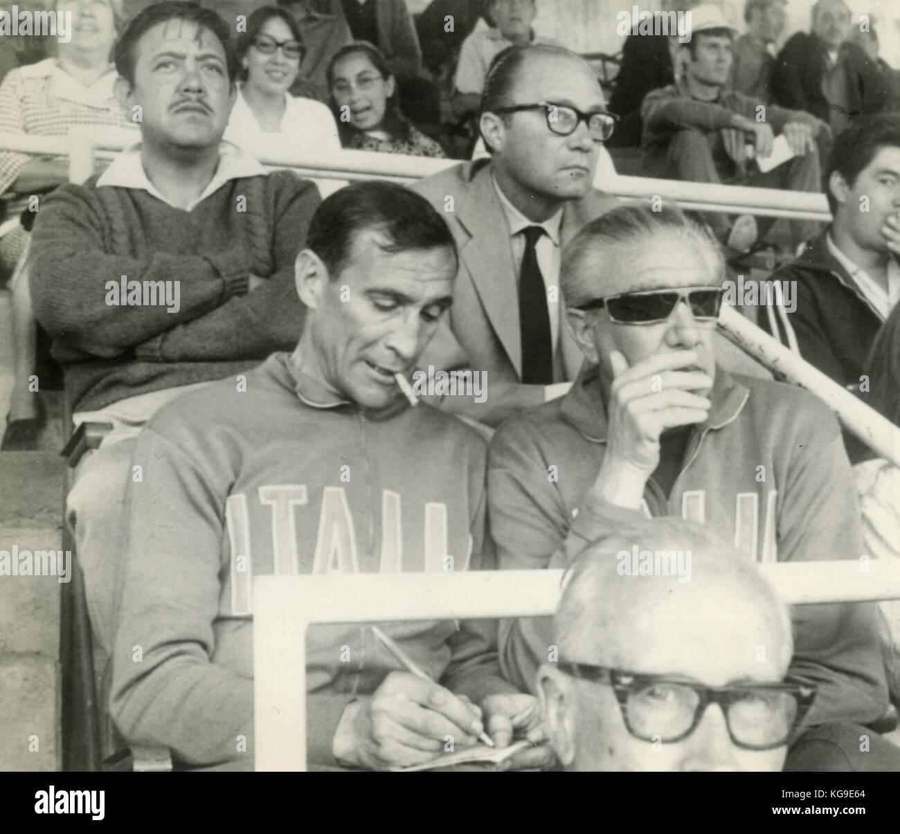 Ferruccio Valcareggi and Enzo Bearzot of the Italian National football team, 1970 - Stock Image