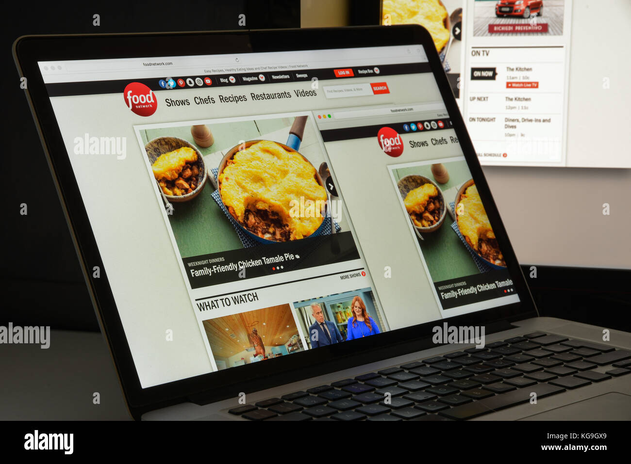 Milan, Italy - August 10, 2017: Foodnetwork website homepage. It is an American basic cable and satellite television - Stock Image