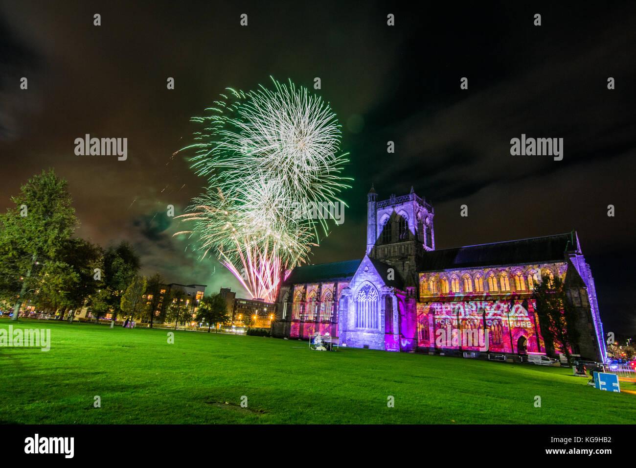 Paisley Fireworks Spectacular 2017 - Stock Image