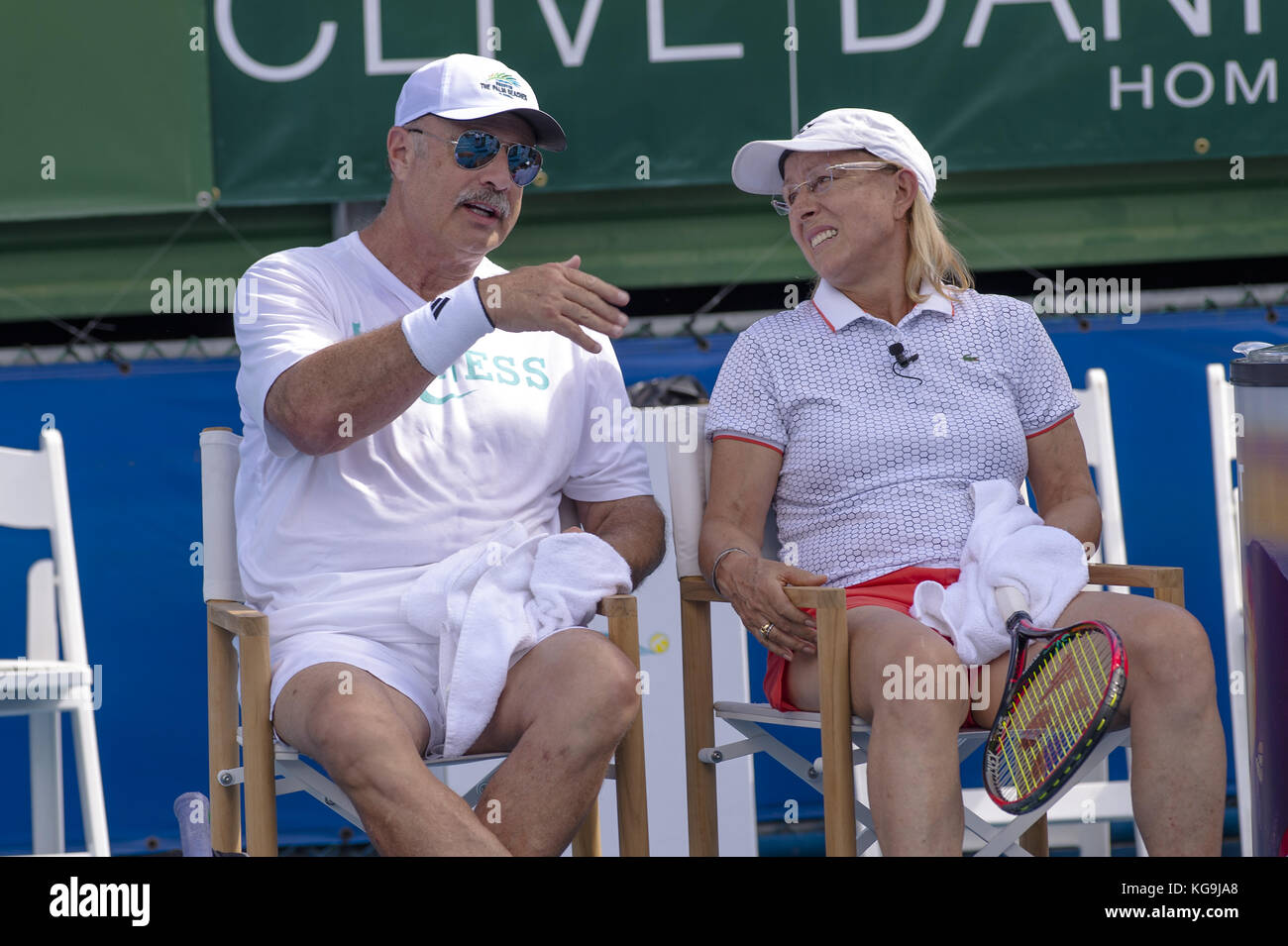 DELRAY BEACH, FL - NOVEMBER 04: Dr  Phil McGraw, Martina Navratilova