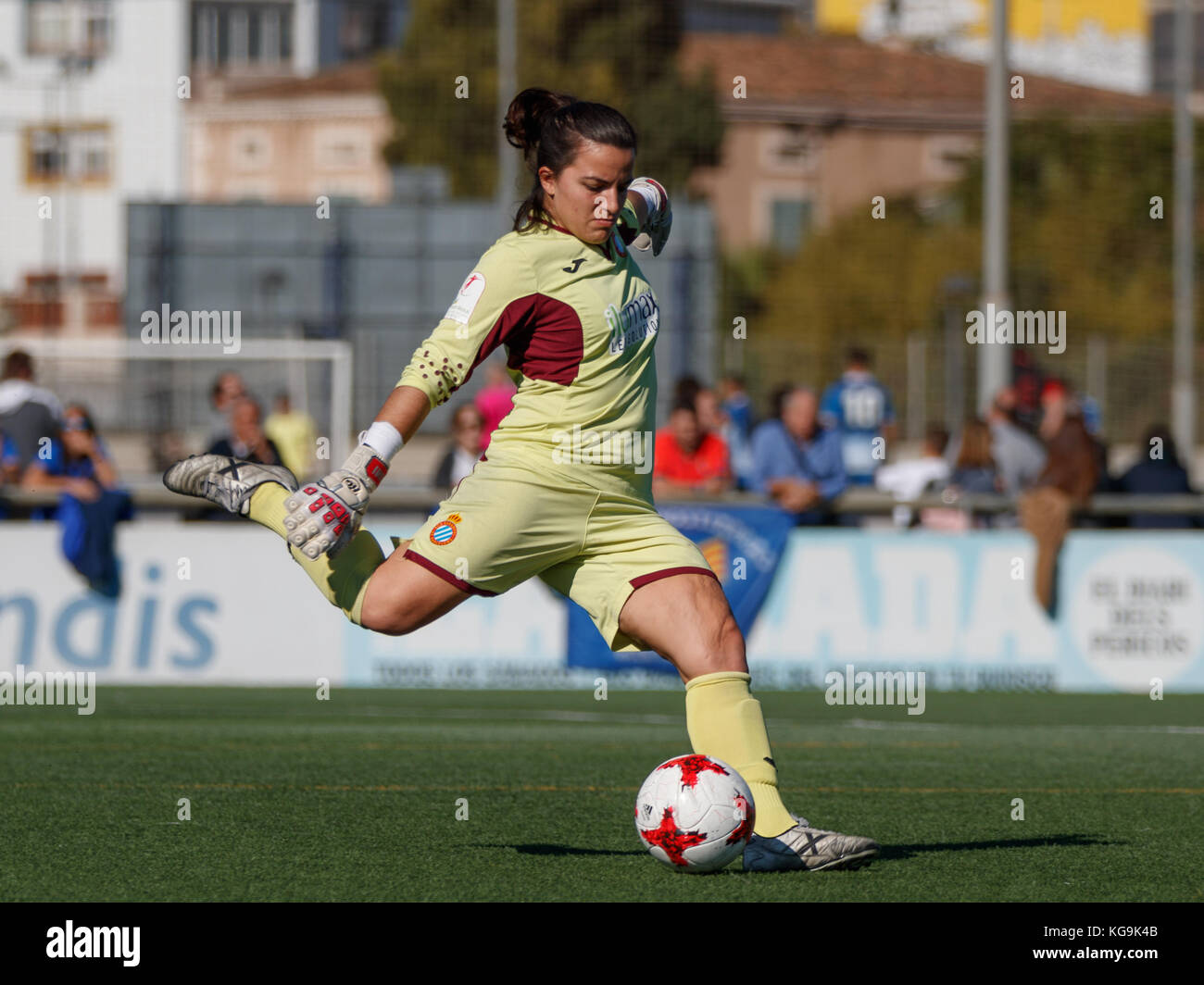 Barcelona, Spain. 5th November, 2017. Match of Spanish Women's Football League between RCD Espanyol and Real - Stock Image