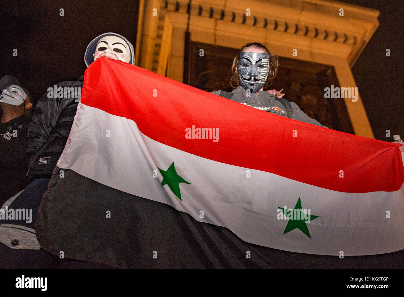London, United Kingdom. 05th Nov, 2017. Million Mask March 2017 takes place in central London. Credit: Peter Manning/Alamy Stock Photo