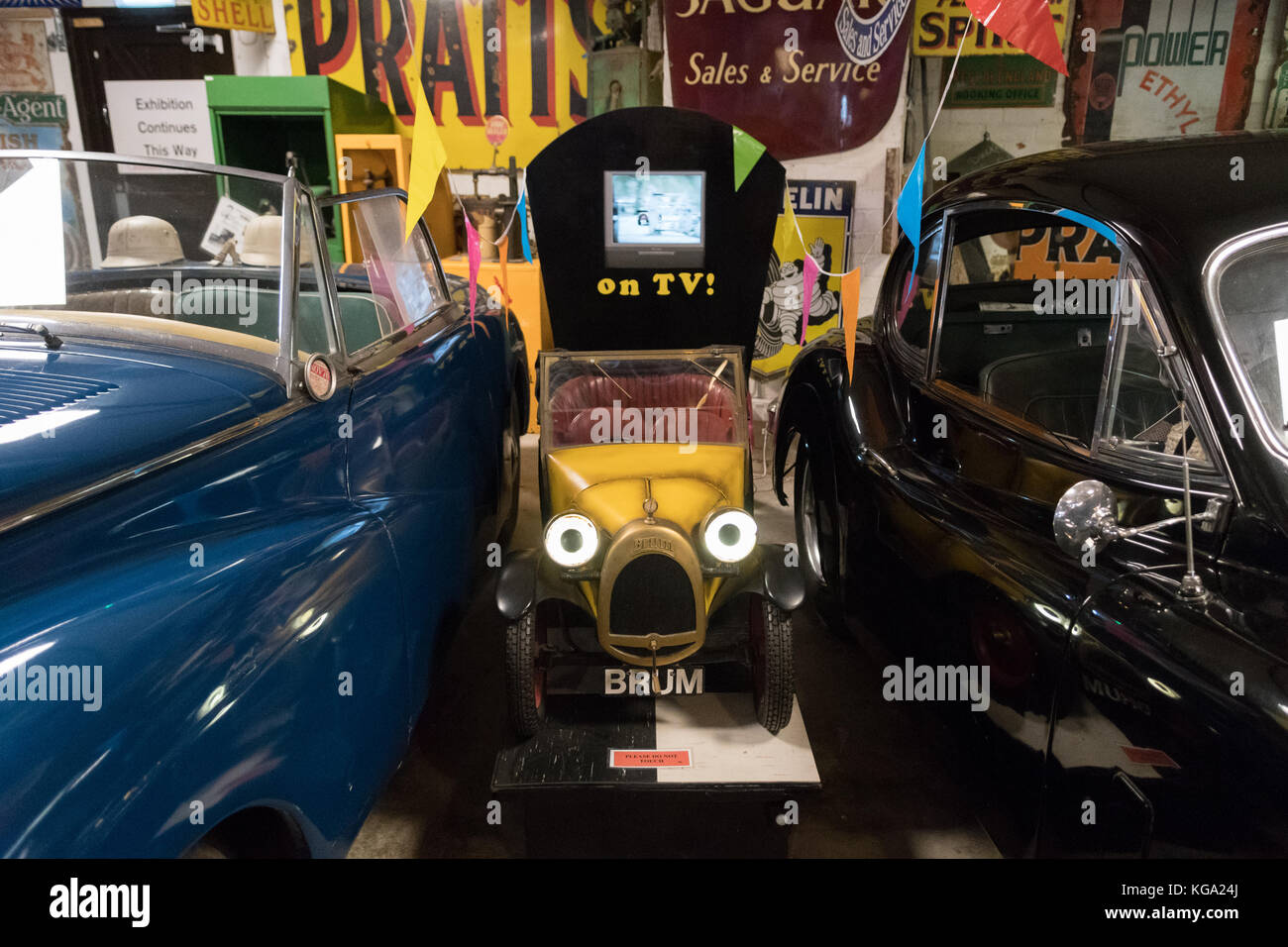 Brum at the Cotswold Motoring Museum, Bourton on the Water, Gloucestershire, England, UK - Stock Image