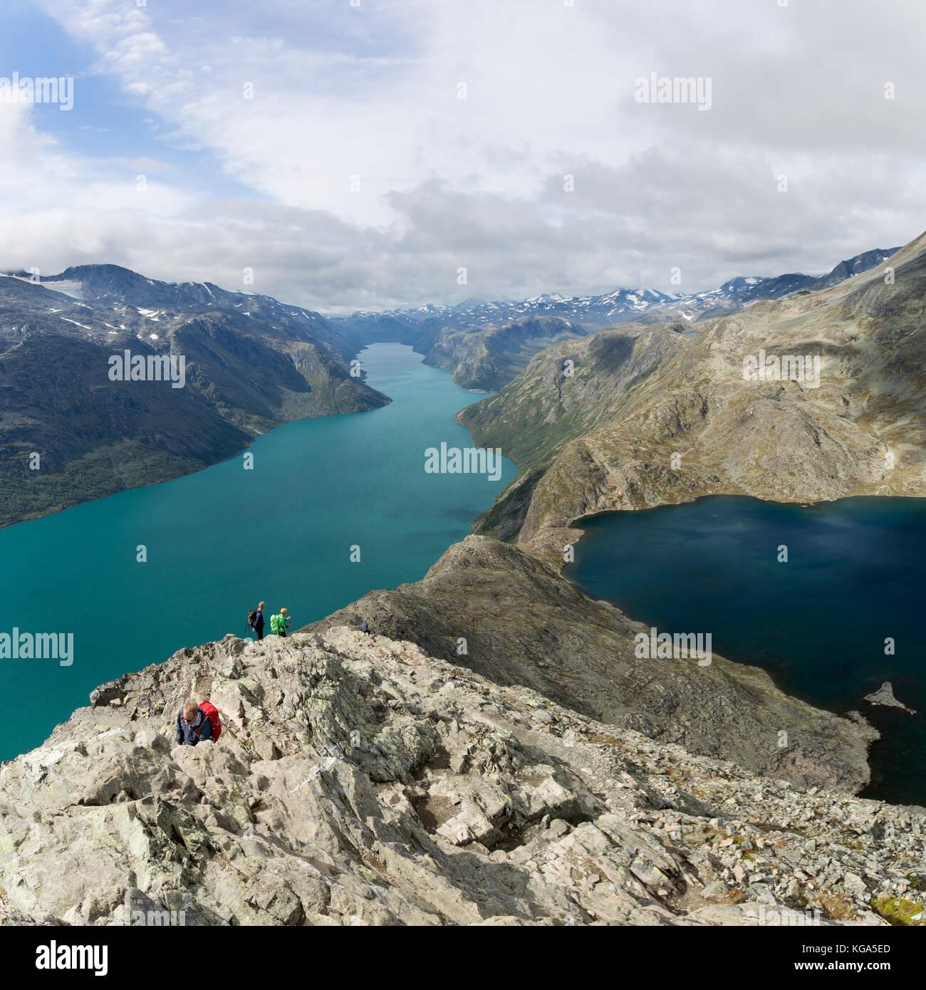 Besseggen Ridge Walk - Stock Image