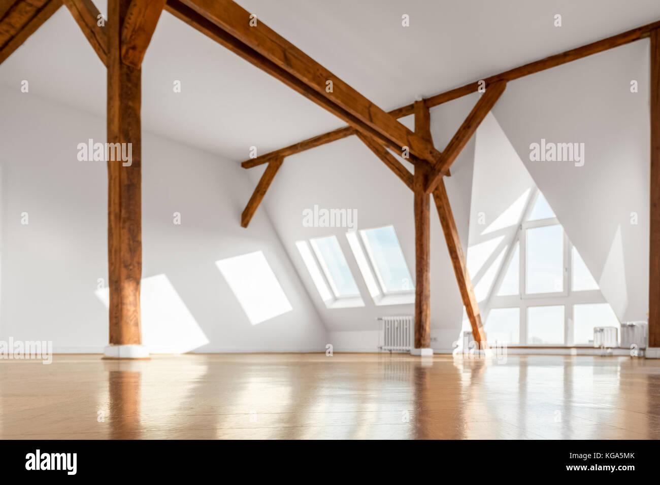 empty penthouse apartment room interior Stock Photo
