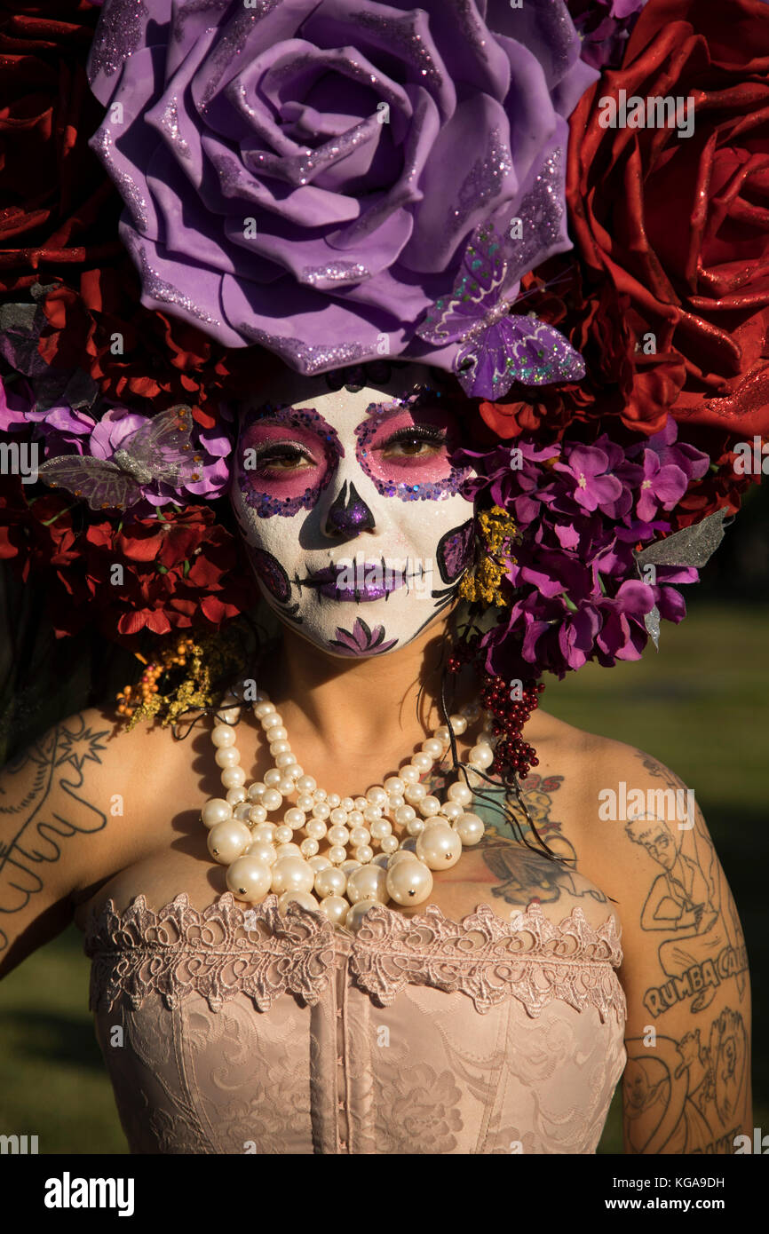 A hat crafted out of paper flowers day of the dead festival stock a hat crafted out of paper flowers day of the dead festival hollywood forever cemetery hollywood california usa 102817 mightylinksfo