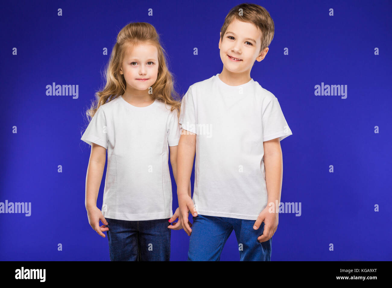 couple of small children - Stock Image