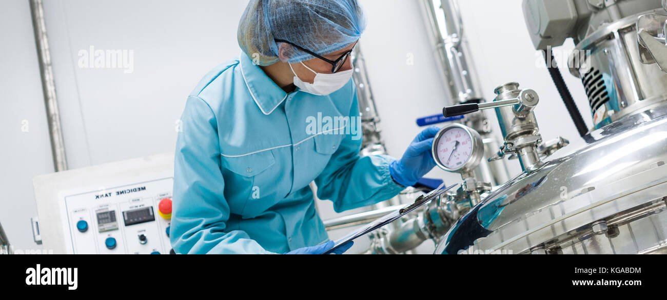 factory production, process, industry - Stock Image