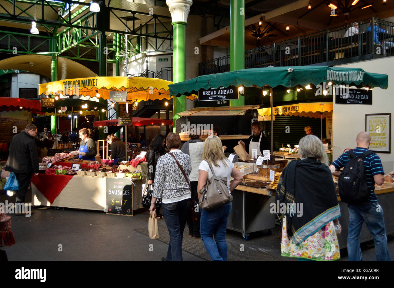 Borough Market, London, UK. - Stock Image