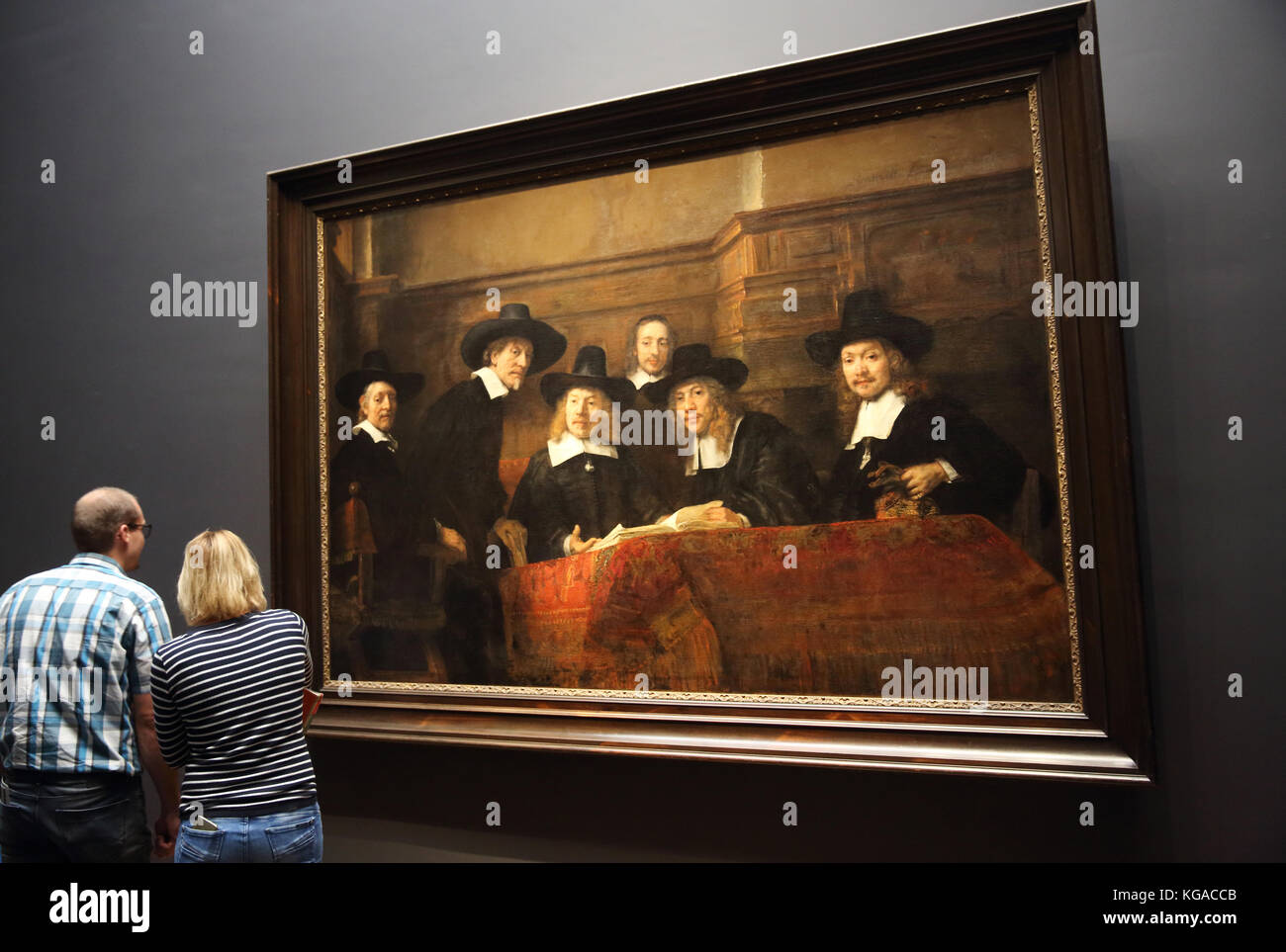 The Rembrandt gallery in the Rijksmuseum, in Amsterdam, the Netherlands - Stock Image