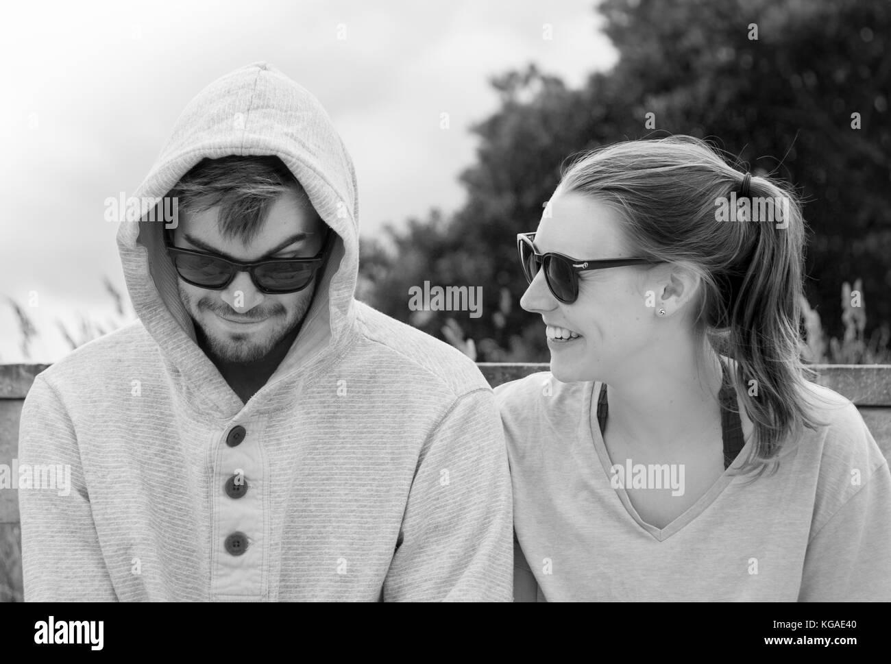 Sharing a moment - Stock Image