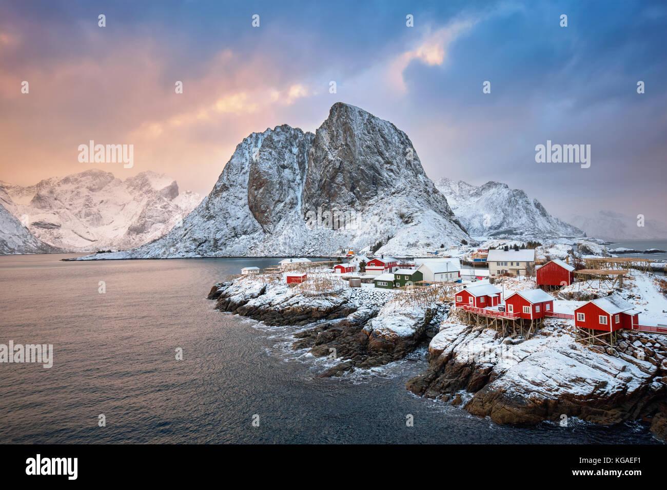 Hamnoy fishing village on Lofoten Islands, Norway - Stock Image