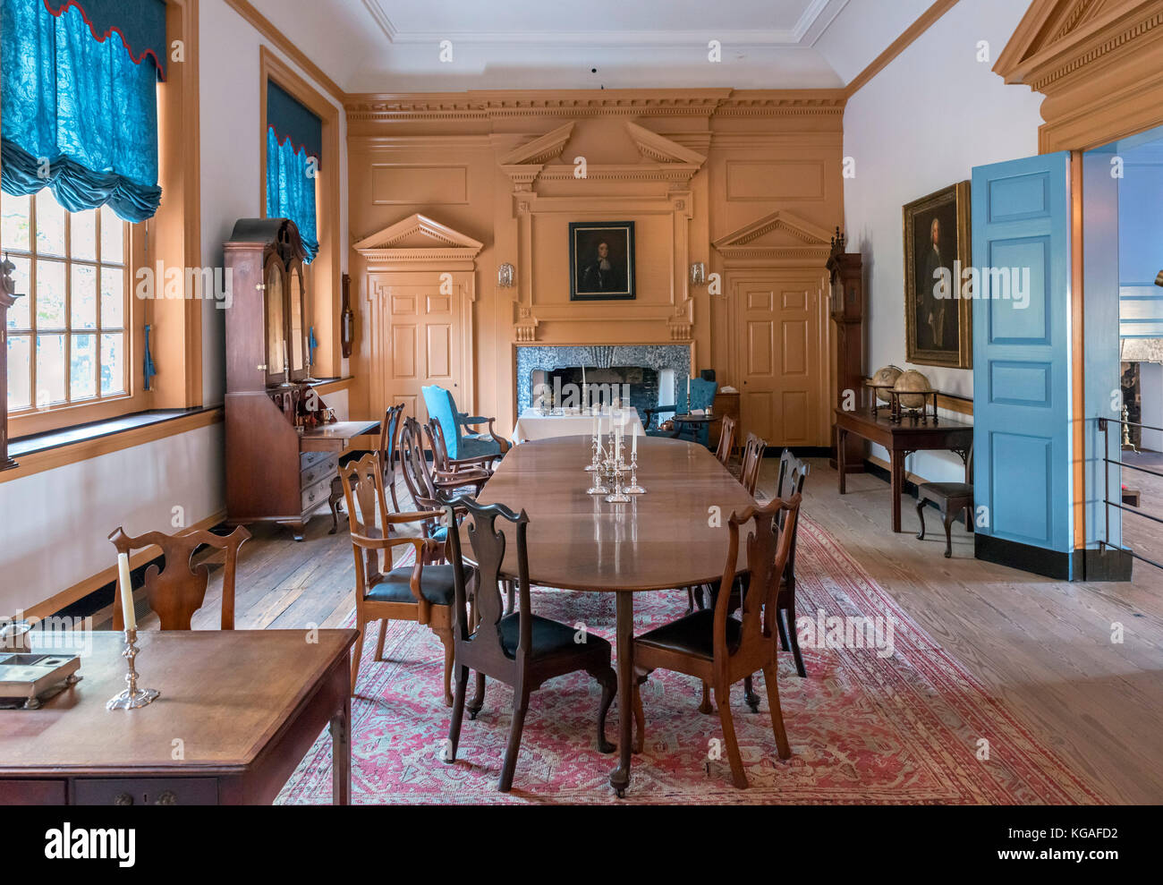 The Governor's Council Chamber in Independence Hall, Independence National Historic Park, Philadelphia, Pennsylvania, - Stock Image