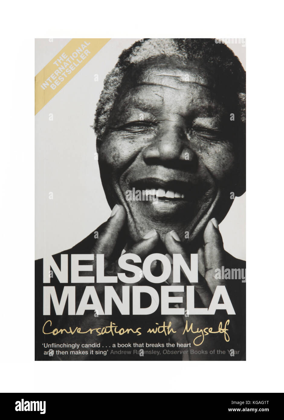The book Nelson Mandela Conversations with Myself - Stock Image