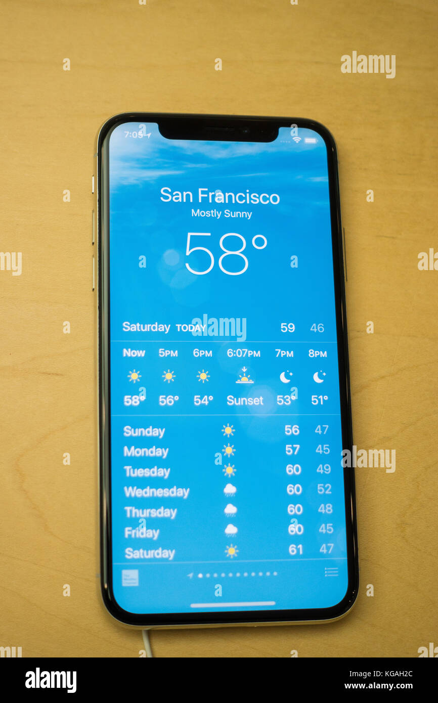 Weather App Stock Photos Amp Weather App Stock Images Alamy