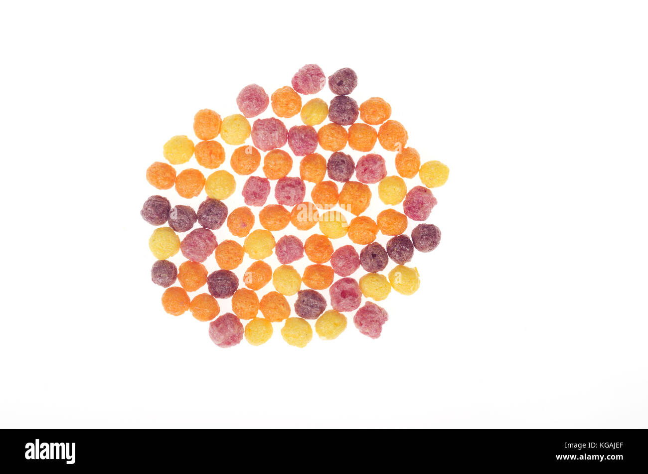 Trix cereal from General Mills on white background - Stock Image