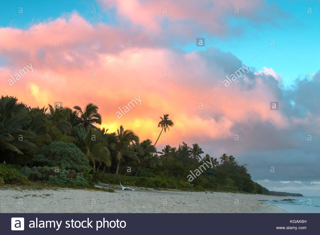 Sunrise on Tongatapu Island, Kingdom of Tonga - Stock Image