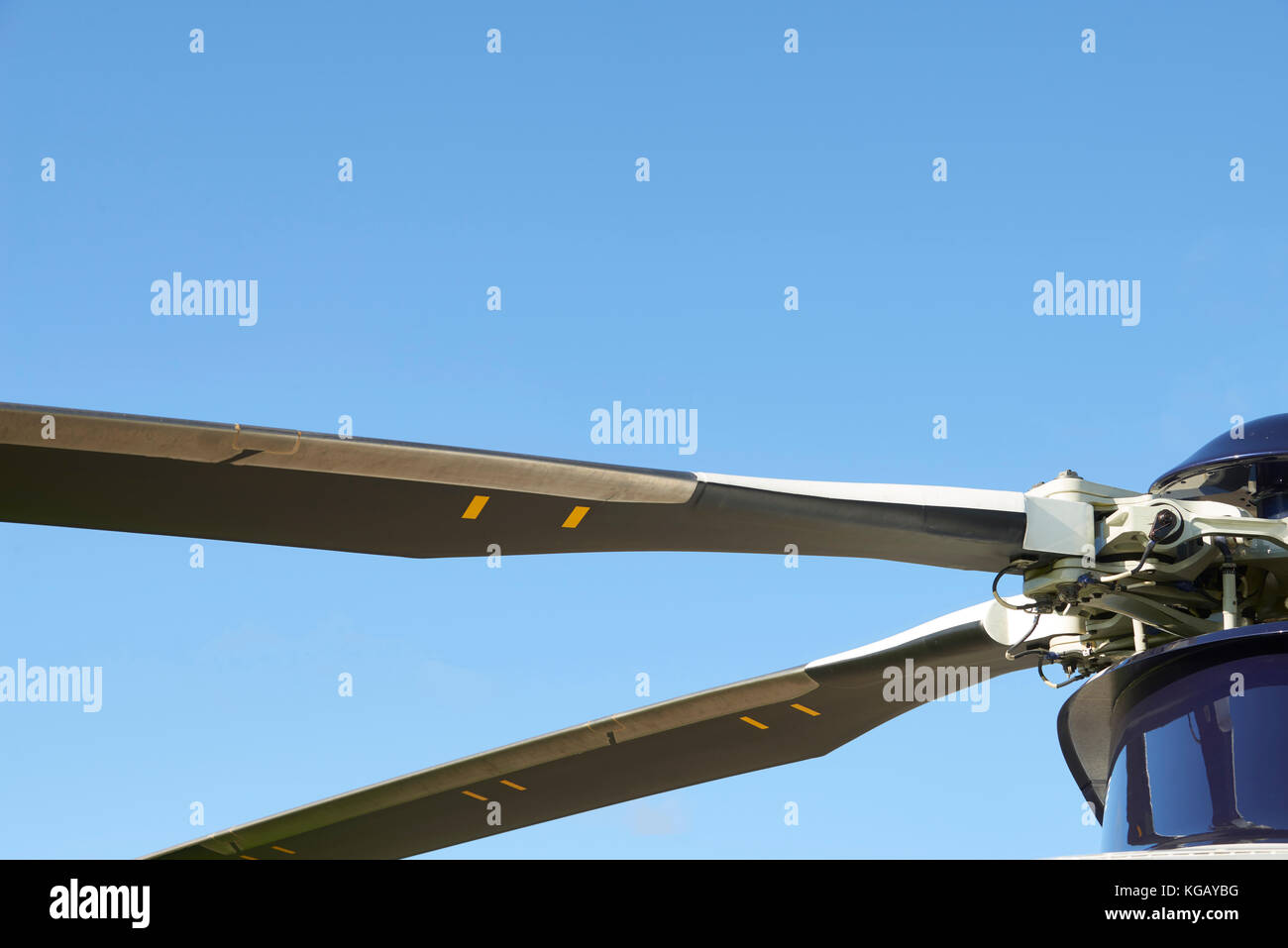 Close Up Of Helicopter Rotor Blades - Stock Image