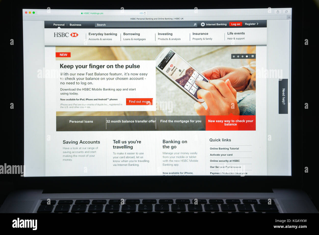 Hsbc Online Banking Website Stock Photos & Hsbc Online Banking