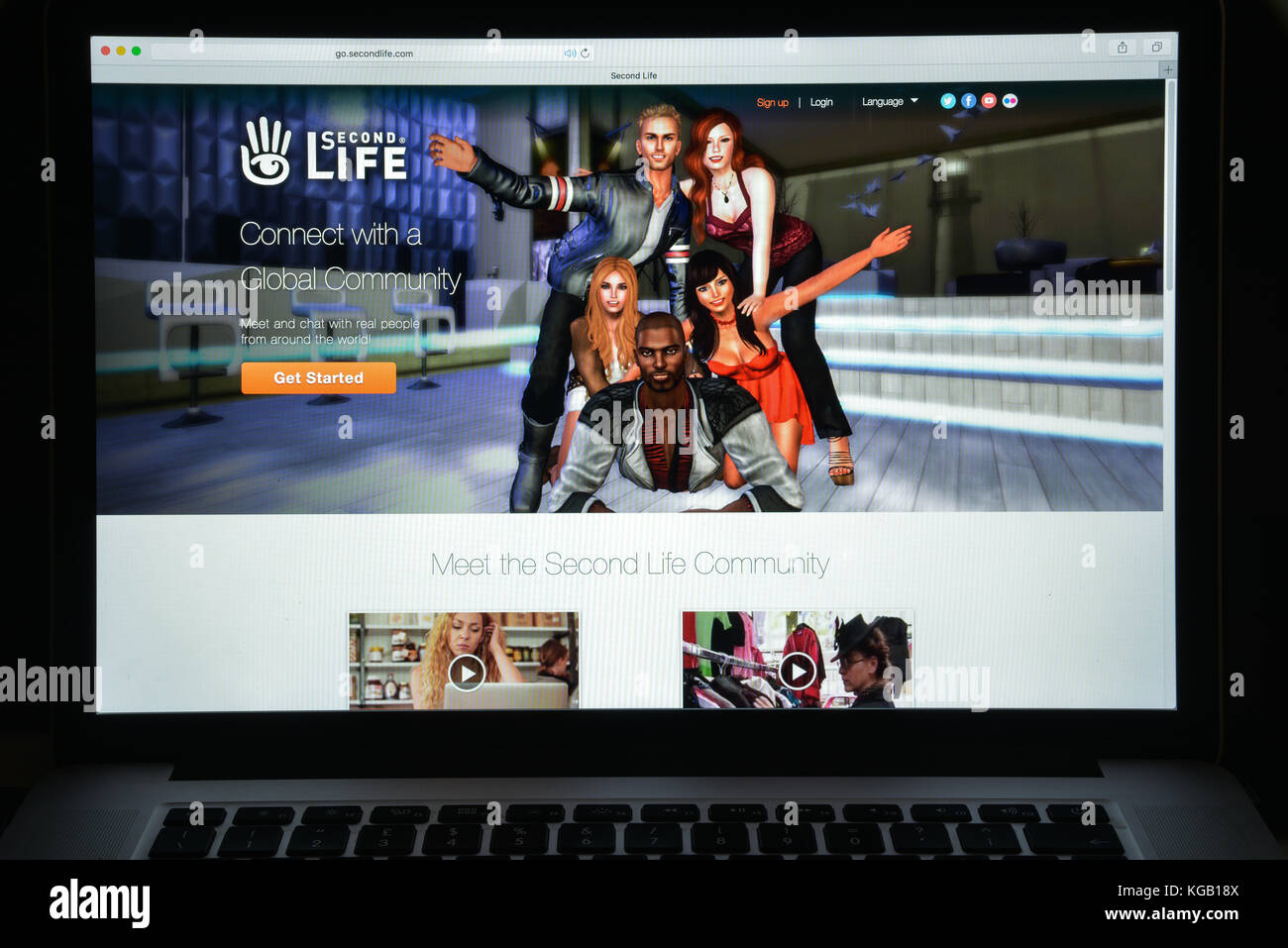 Milan, Italy - August 10, 2017: Second life website homepage