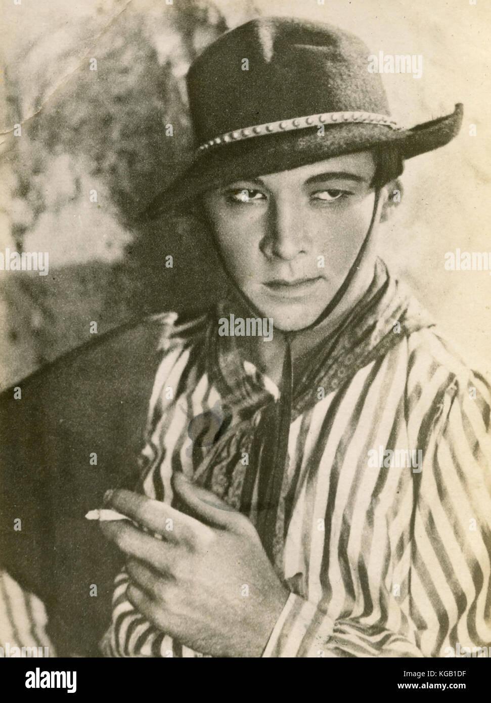 Italian-born American actor Rudolph Valentino as Julio in the movie The Four Horsemen of the Apocalypse, 1921 - Stock Image
