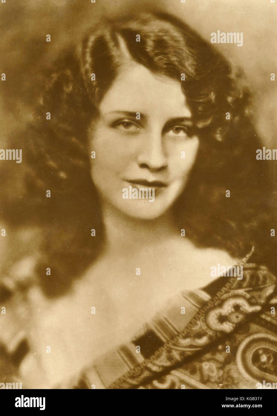 American actress Norma Shearer - Stock Image