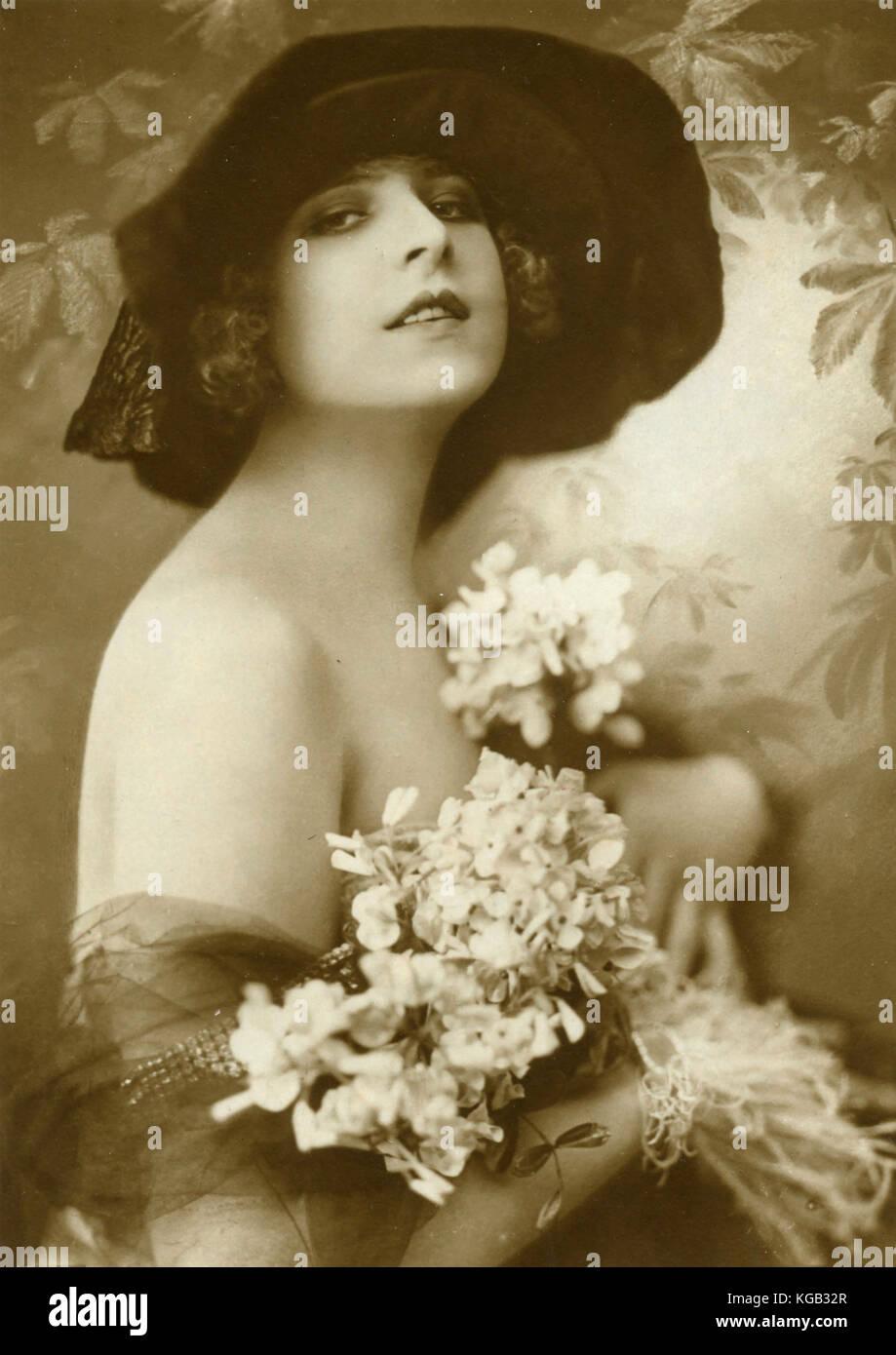 American actress Edda Stevens - Stock Image