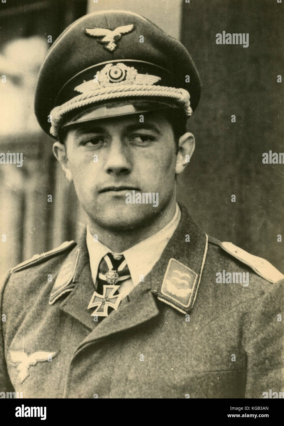 German aviator ace of the II World War Siegfried Schnell Stock Photo