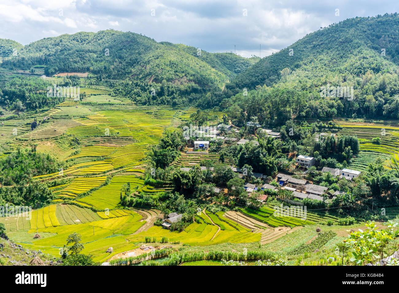 Dong Van (Ha Giang) Vietnam - Trekking restricted northern region, landscape Stock Photo