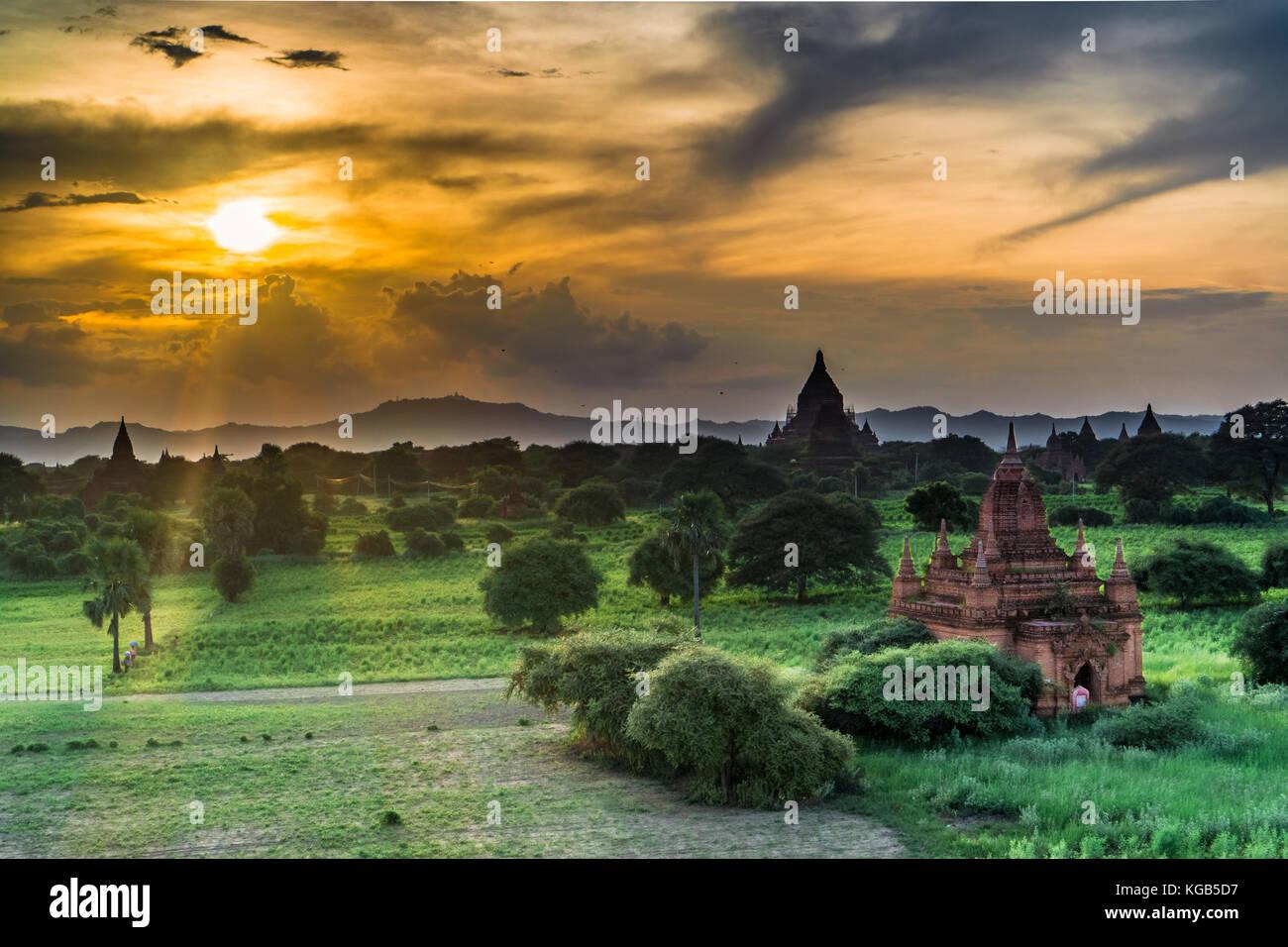 Bagan, Myanmar Pagodas (Temples) - Stock Image
