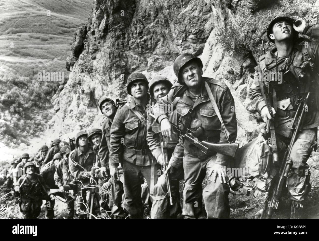 Actor William Holden in the movie The Devil's Brigade, 1968 - Stock Image