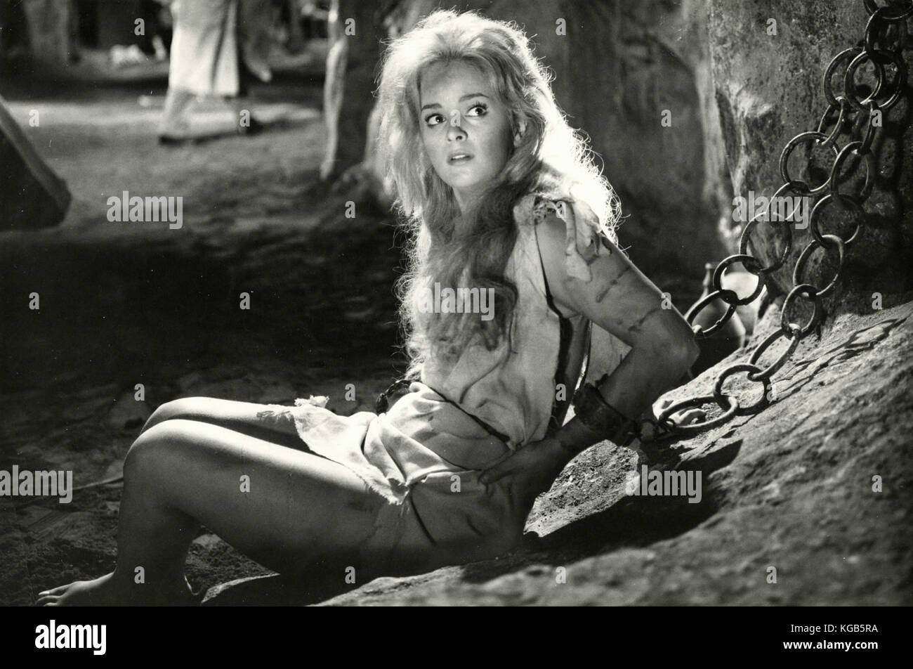 Actress Leticia Roman in the movie Charge of the Black Lancers, 1962 - Stock Image