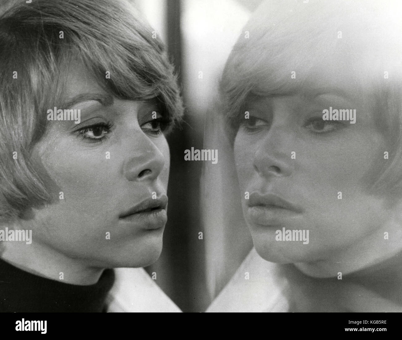 French actress Mireille Darc in the movie Jeff, 1969 - Stock Image