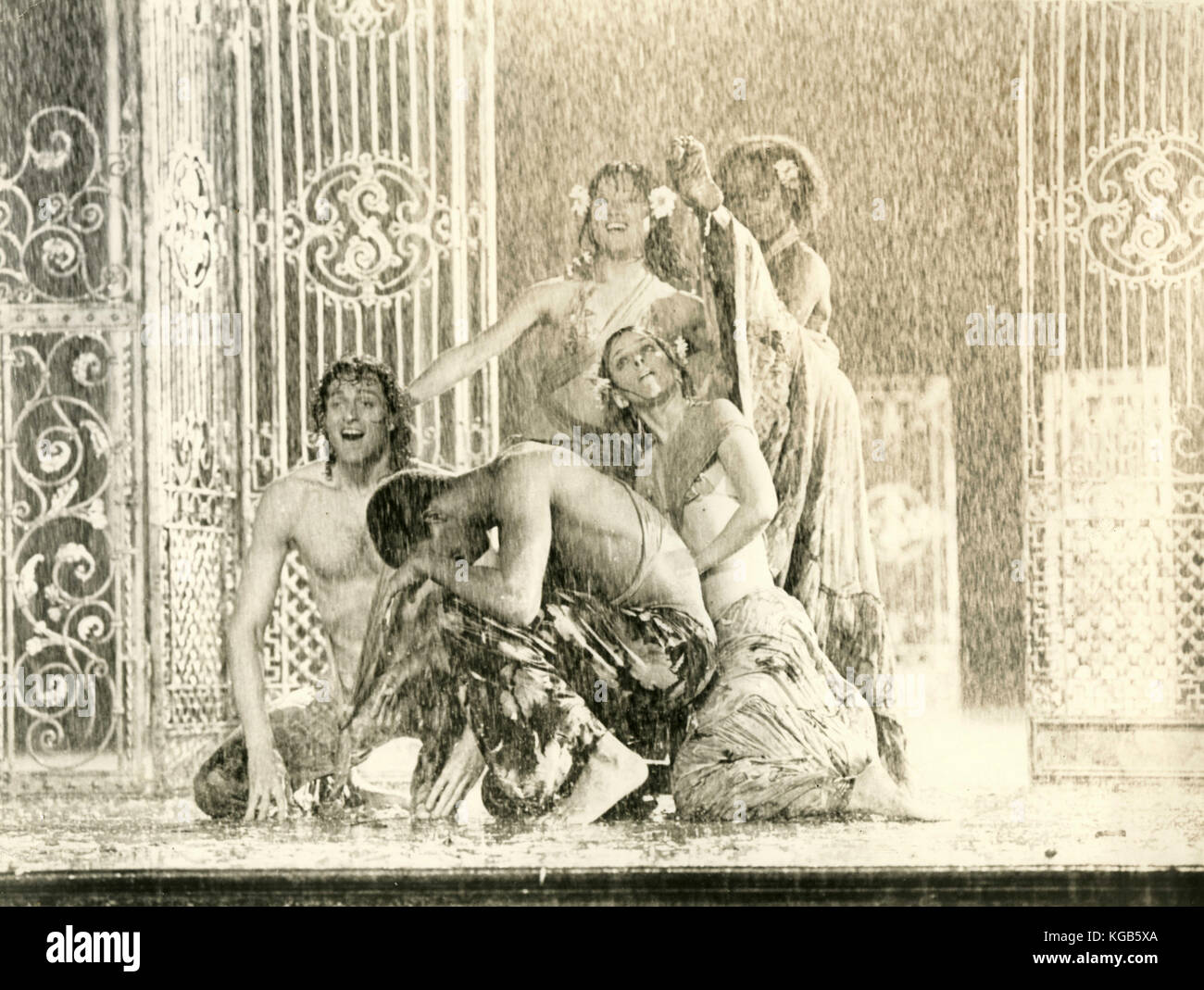 Dancers in a still from the movie Hair, 1979 - Stock Image
